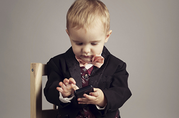 Little boy in suit